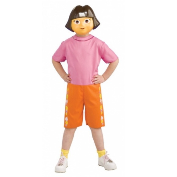 Dora The Explorer Dress Up Costume Set Size 2,4 NWT